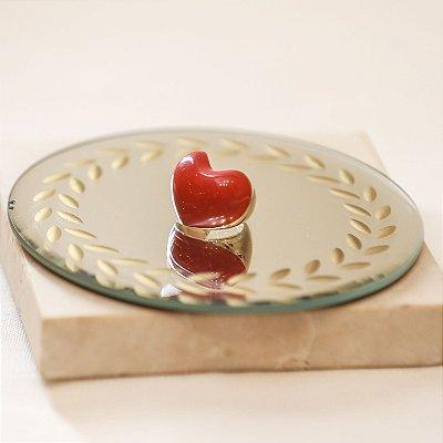 Anel Coração Color Nath - Vermelho