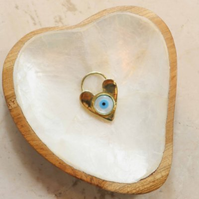 Pingente Cadeado Olho - Coração
