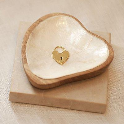 Pingente Cadeado Coração - Gold