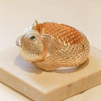 Bracelete Peixe Com Olho de Pedra