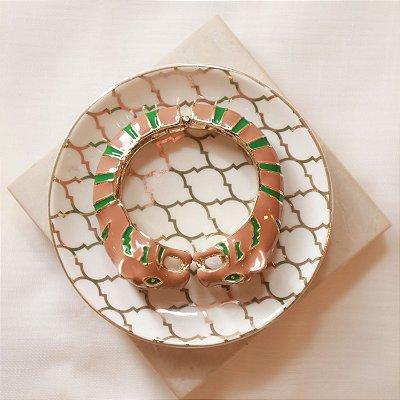 Bracelete Tigre Max Maria - Cappuccino e Verde