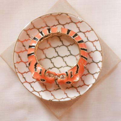 Bracelete Tigre Max Maria - Laranja e Preto