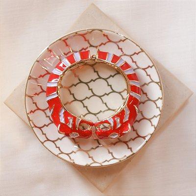 Bracelete Tigre Max Maria - Vermelho e Lilás
