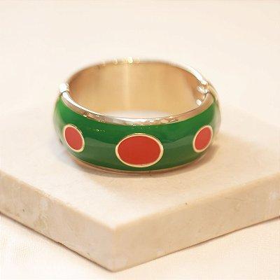 Pulseira Mônaco - Verde e Vermelho