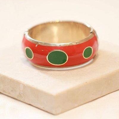 Pulseira Mônaco - Vermelho e Verde
