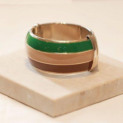 Pulseira Tricolor - Verde, Cappuccino e Marrom