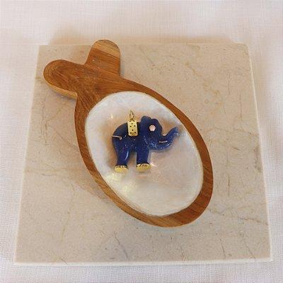 Pingente Elefante - Lapis Lazuli