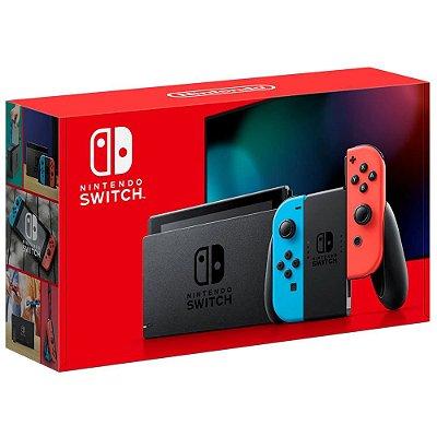 Nintendo Switch 32GB + 02 Controles Joy-Con Azul e Vermelho