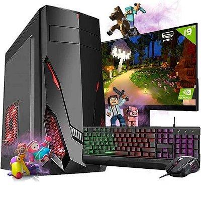 Pc Gamer Completo i3 8gb HD 500 Placa De Video Monitor - Fnew
