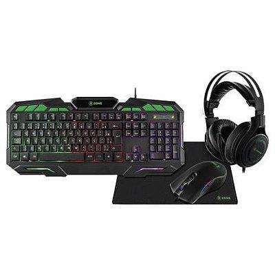 Kit gamer 4 em 1 xzone gtc-02