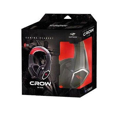 Fone de Ouvido C3TECH com Microfone Gamer CROW PH-G100BK - C3 Tech