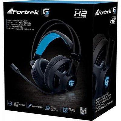 Headset Gamer Pro H2 Preto FORTREK
