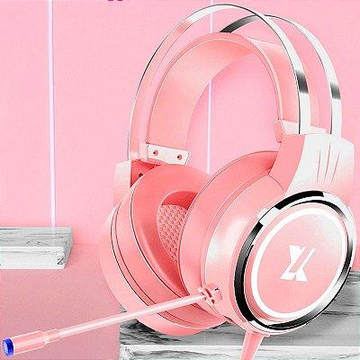 Headset Yakestar X8 7.1 falantes de 50mm Estéreo e Surround Flexível e Ajustável Laptop/PC/Mobile