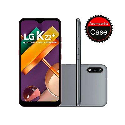 "Smartphone LG K22+ 64GB 3GB RAM Tela 6.2"" Câmera Dupla Traseira 13MP + 2MP Frontal 5MP Bateria de 3000mAh Titan"