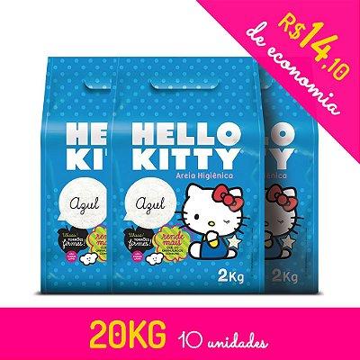 Areia Higiênica Hello Kitty Azul - Kit de 10 unidades