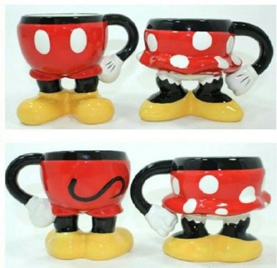 Kit canecas Disney Mickey e Minnie