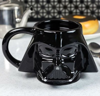 Caneca Darth Vader Star Wars Porcelana Formato 3d