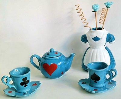 Jogo de Chá Tema Alice no Pais das Maravilhas