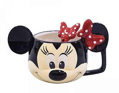 Caneca Minnie com colher Disney