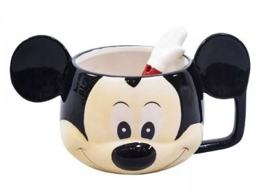 Caneca Mickey com colher Disney