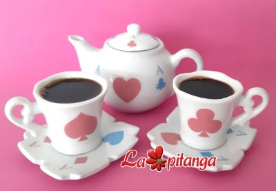 Kit Café Alice Cartas Azul e Rosa