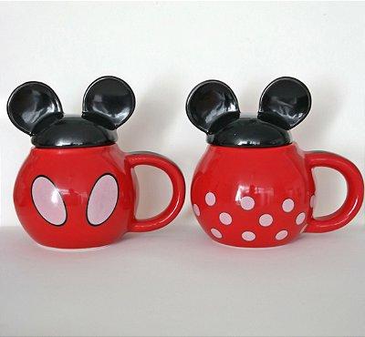 Kit Caneca Mickey com Tampa