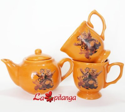 Kit Chá Turma Pooh Laranja