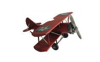 Avião Metal Vermelho 25cm
