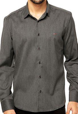 Camisa Aramis Slim Fit - Cinza Escuro