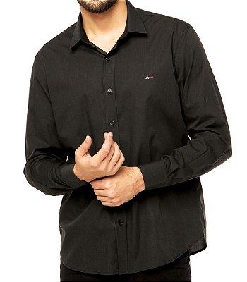 Camisa Aramis Slim Fit - Preta