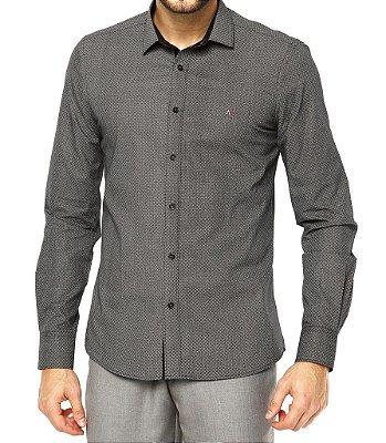 Camisa Aramis Slim Fit - Cinza com Detalhes