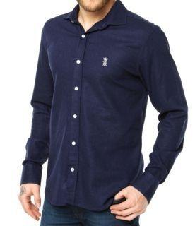 Camisa Sergio K Slim Fit Basic - Azul Marinho