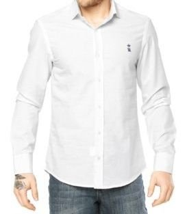 Camisa Sergio K Slim Fit Basic -Branco