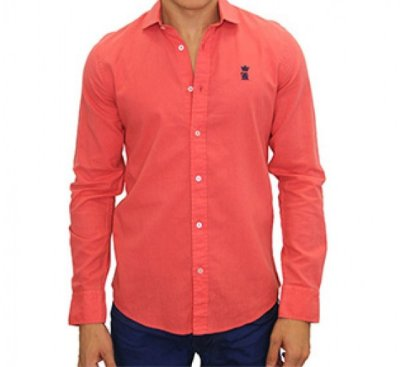 Camisa Sergio K Slim Fit Basic - Salmão