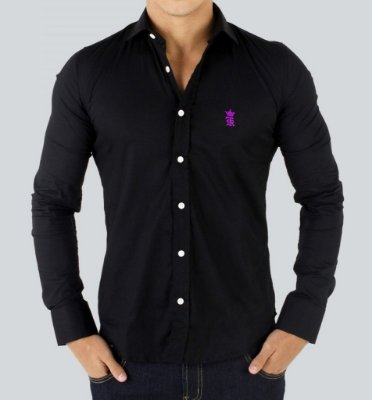 Camisa Sergio K Slim Fit Basic - Preto