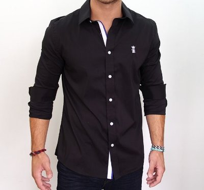 Camisa Sergio K Slim Fit Preto