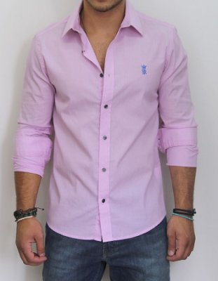 Camisa Sergio K Slim Fit Basic - Roxa