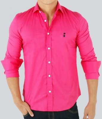 Camisa Sergio K Slim Fit Basic - Rosa