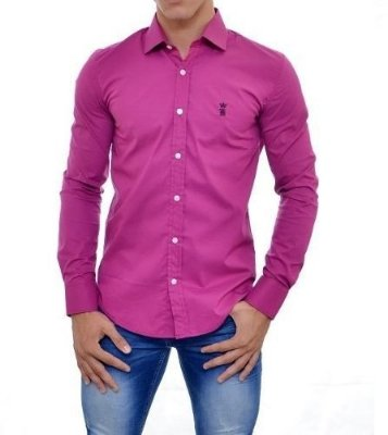 Camisa Sergio K Slim Fit Basic - Vinho