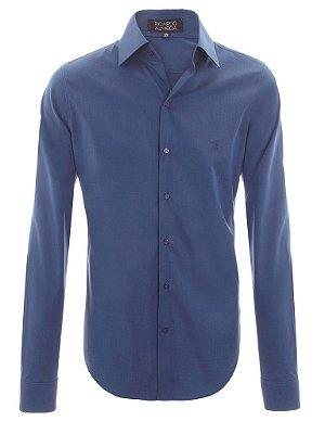 Camisa Ricardo Almeida Slim Fit - Azul Marinho
