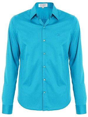 Camisa Ricardo Almeida Slim Fit - Azul