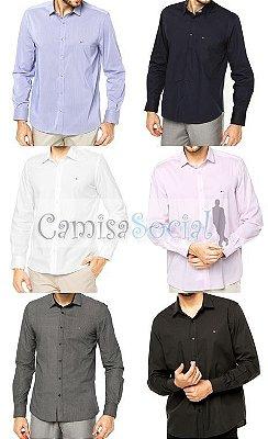 Camisa Social Aramis Masculina - Atacado kit 10 peças