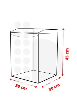 Pote Expositor - 36 L (30 x 30 x 45cm)