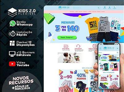 Tema Flexível - Kids 2.0 | Loja Integrada