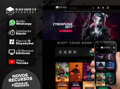 Tema Flexível -  Black Game 2.0 | Loja Integrada