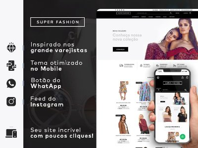 Tema Super Fashion | Loja Integrada