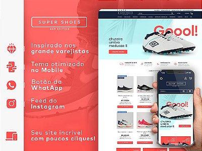 Tema Super Shoes Man | Loja Integrada