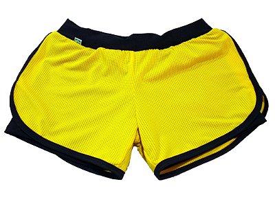 Short Duplo Fitness Amarelo