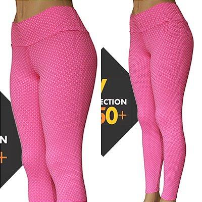 Legging 3D Proteção UVA+UVB 50 ROSA