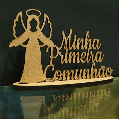 Topo De Bolo com 14cm  (maior lado da peça)  Primeira Comunhão ( Eucaristia) - Cor à Escolher